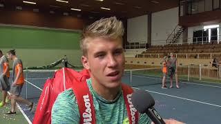 Alex Molčan po prohře ve finále na turnaji Futures v Pardubicích
