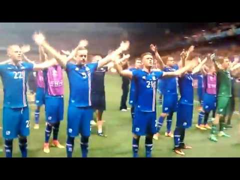 AMAZING: Iceland Team Celebrate With Iceland Fans - Iceland 2 England 1