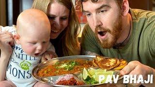 We Made Pav Bhaji!! | Mumbai Street Food