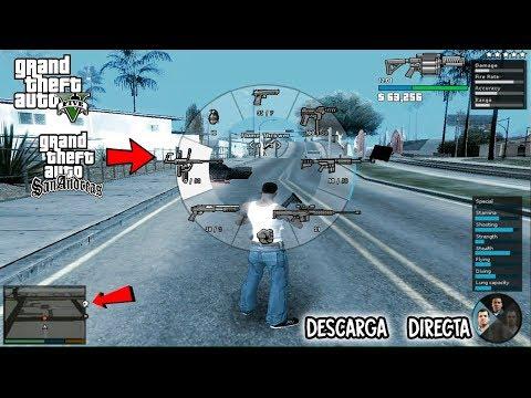 GTA SAN ANDREAS CON MODS DE GTA 5 PARA PC JUEGO COMPLETO DESCARGA DIRECTA