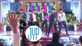손든JYP찾기🖐2PM(투피엠) - 핸즈업 Hands Up KBS 연기대상 20111231