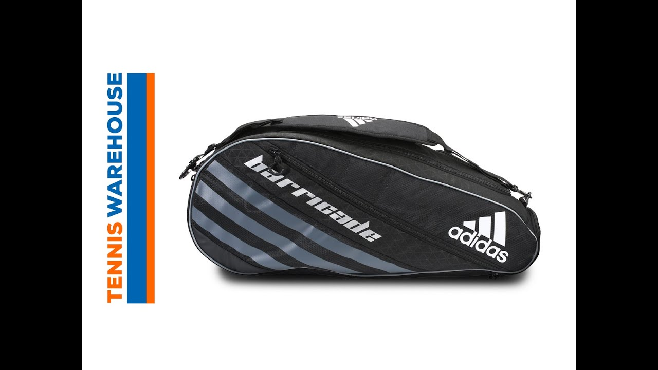 faa443e9e7a2 adidas Barricade IV Tour 3 Pack Racquet Bag - YouTube