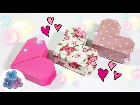 Origami: Cajas de Regalo Originales Corazon de San Valentin Cajas de ...