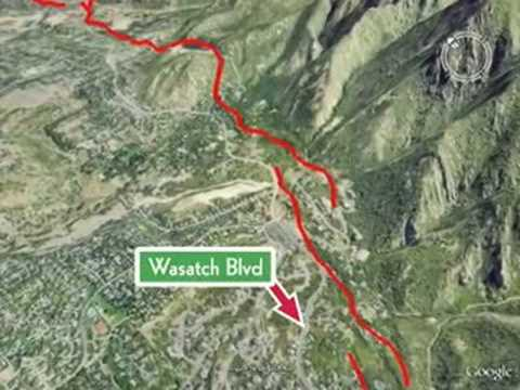 Wasatch Fault Fly By Video (high quality)