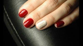 Gold Snowflake stamping nail design