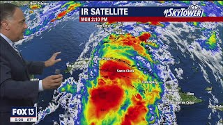 Tropical Storm Elsa update, Monday evening