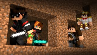 THEY'RE IN OUR CAVE! (Minecraft UHC PvP) w/ Huahwi & PrivateFearless