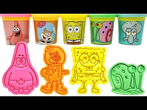 SpongeBob SquarePants Play-Doh Molds & Toys Spongebob Patrick Squidward Snail Sandy
