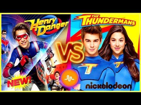 Henry Danger VS The Thundermans Musical.ly Battle | Famous Nickelodeon Stars New Musically