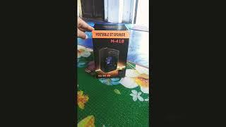 Speaker Bluetooth ELITE M418 Standing Portable Wireless USB TF-Card