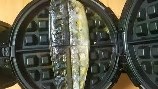 와플팬 생선구이 하기 - 와플기계 생선구이 잘 구워집니…