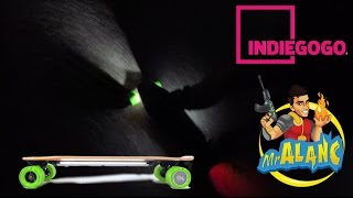 Acton Blink S Electric Skateboard & Hat First Outdoor Night Ride IndieGogo Backer $85 Promo Code