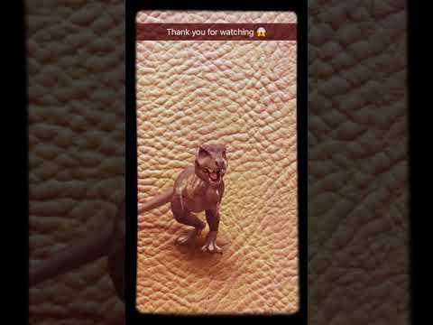 Scary Dinosaur Snapchat Animation Filter
