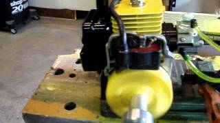 Modified 25cc Homelite engine  for rc air boat