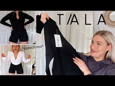 TRYING NEW TALA PIECES | ACTIVEWEAR TRY ON HAUL + REVIEW | James and Carys