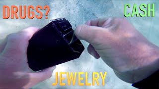 Found Box of Drugs? Expensive Jewelry & Cash while Metal Detecting UNDERWATER