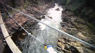 Zip Lining & Rock Climbing at Parc des Chutes Coulonge, Quebec