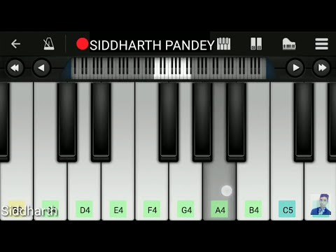 Dil Diyan Gallan(Atif Aslam), Salman khan - Easy Mobile Piano Tutorial SIDDHARTH PANDEY