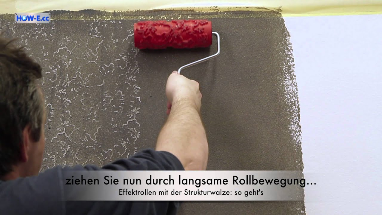 Superb Effektmalen: Effektrollen Mit Der Strukturwalze   So Gehtu0027s   YouTube Design Inspirations