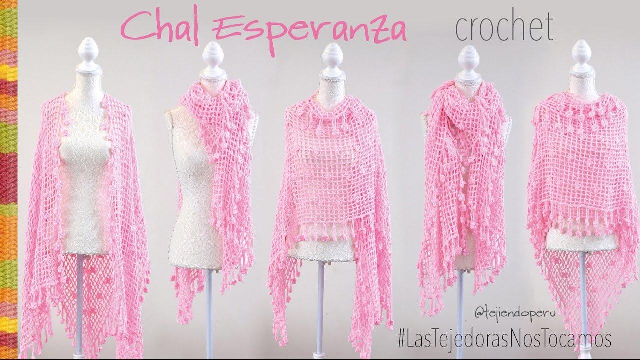 Chal Esperanza tejido a crochet - Tejiendo Perú - YouTube