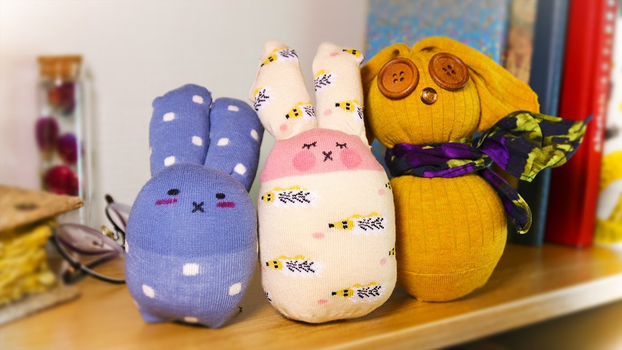 3 Different Ways To Make Diy Sock Bunny Doll No Sew Easter Craft
