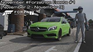 Forza Motorsport 7 - November #Forzathon Events #1 (November 2 - November 9)