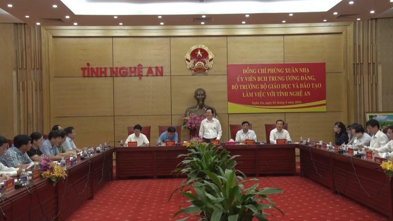 Bộ Giáo dục và Đào tạo làm việc tại tỉnh Nghệ An (Tin trong nước)