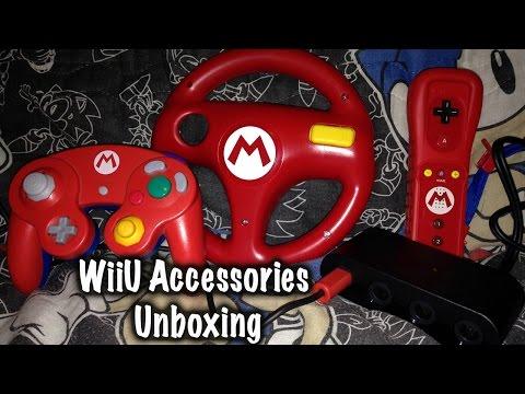WiiU Gamecube Adaptor and Mario Wii Wheel Unboxing