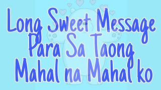 Messages text tagalog sweet Tagalog Happy
