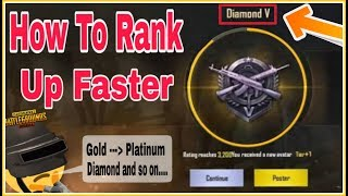 How To RANK Up FASTER in Pubg Mobile | Boost Your Points With All Bonus Key Tricks!