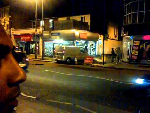 London Riots - Looting West Ealing (Shop Owner Fights Back) Must see!!!!!(08.08.11)
