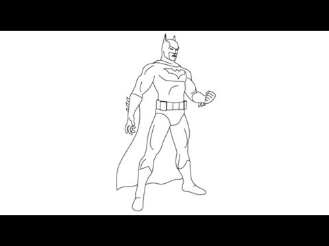 How To Draw Batman Easy Step By Step Drawing Lessons For Kids