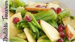 Kök Ispanak Salata - Spinach Root Salad