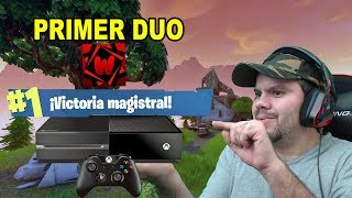 fortnite BATTLE ROYALE, DUO EN XBOX ONE, PRIMERA VICTORIA -GAMEPLAY ESPAÑOL-