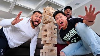Baixar WORLD'S LARGEST GAME OF JENGA!!! (FIRST TO MAKE TOWER FALL DOWN LOSES)