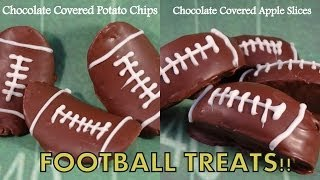 Chocolate Covered Potato Chip And Apple Slice Footballs- With Yoyomax12