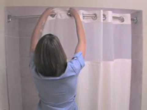 Shower Curtains At Bed Bath And Beyond hookless fabric shower curtain at bed bath & beyond - youtube