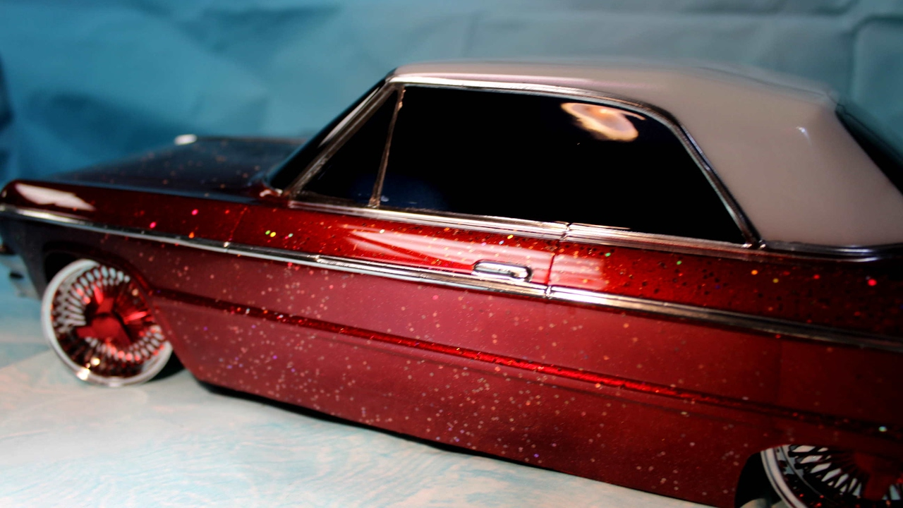 Lowrider Rc Candy Paint Metal Flake Chrome And Tint Youtube