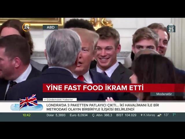 Trump zorla patates kızartması yedirdi
