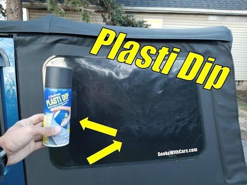 Plasti Dip Jeep Wrangler Soft Top Windows!?   Plasti Dip Window Tint vs Tint Soft Top Windows