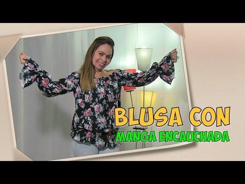 DIY Blusa Fácil con Manga Encauchada   Easy blouse with sleeves