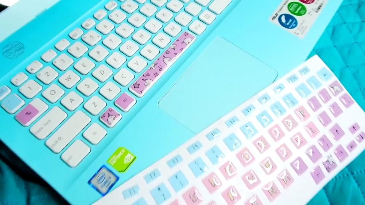 ✿My New Asus Laptop + kawaii keyboard stickers✿