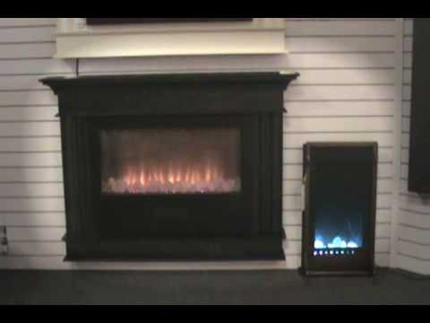 MONTE CARLO Electric Fireplace - Wall Mount with Mantel - YouTube