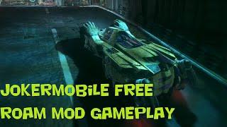 Batman Arkham Knight Mods | Jokermobile Free Roam Gameplay (PC 1080p 60fps Commentary)