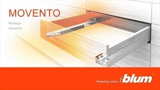Blum Movento Tip on with Soft Close Drawer Slides