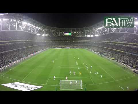 OUTSTANDING Full Stadium View of Shane Duffy's Goal vs. Denmark