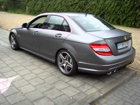 Mercedes C63 Amg 0 60 >> Matte Grey Mercedes Benz C63 AMG Jero Design Loud Accelerating!! - YouTube
