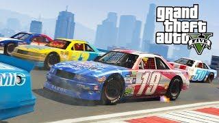 GTA 5 NASCAR RACES!! (GTA 5 Online DLC Update)