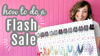 How to Do a Flash Sale