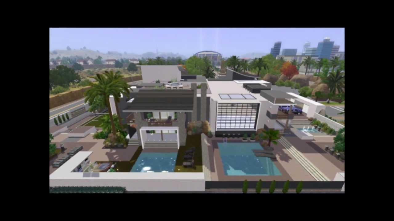 The Sims 3 Celebrity Mansion (NO INTERIOR) - YouTube